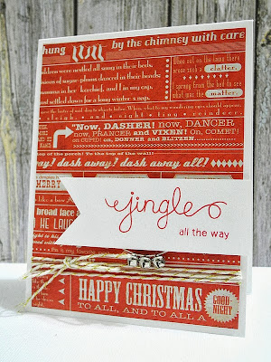 Jingle all the way holiday card by Jennifer Ingle for Newton's Nook Designs