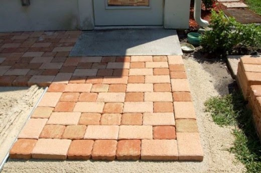 duplicating the pattern for patio stone pavers project