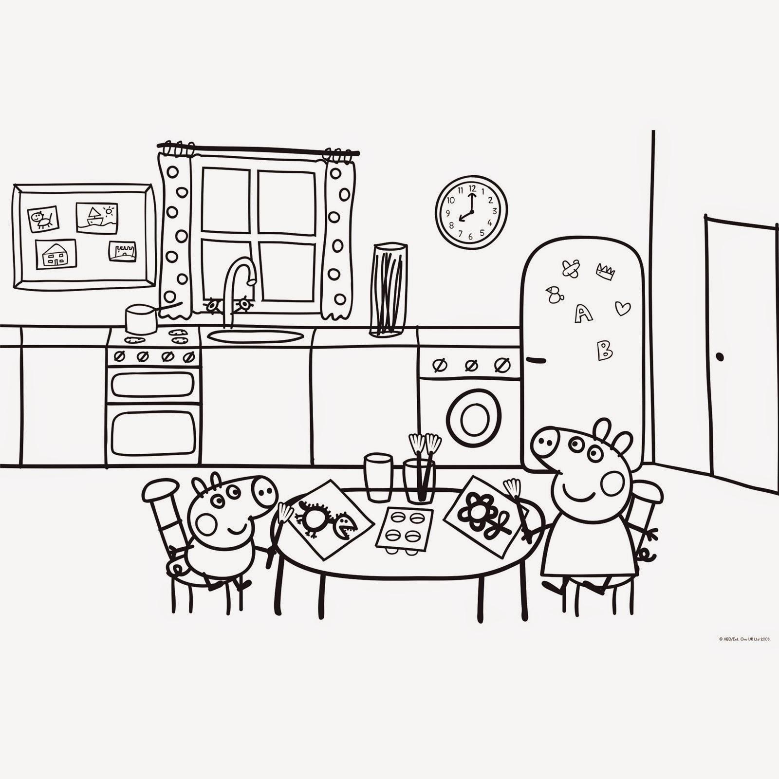 Juegos sara dibujos para colorear sobre la cocina y cocineros for Comedor para dibujar