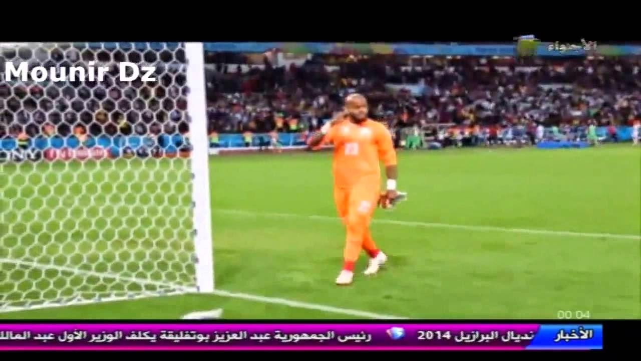 مفاجأة المنديال....ماذا فعل مبولحى بين شوطى مباراة الجزائر و ألمانيا
