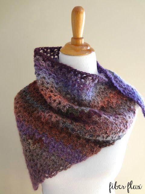 Fiber Flux Free Crochet Patternisten Shawl