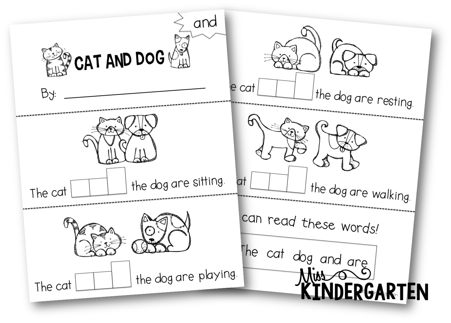 Sight play Miss Kindergarten: printable book Fun!!  Words Making word sight