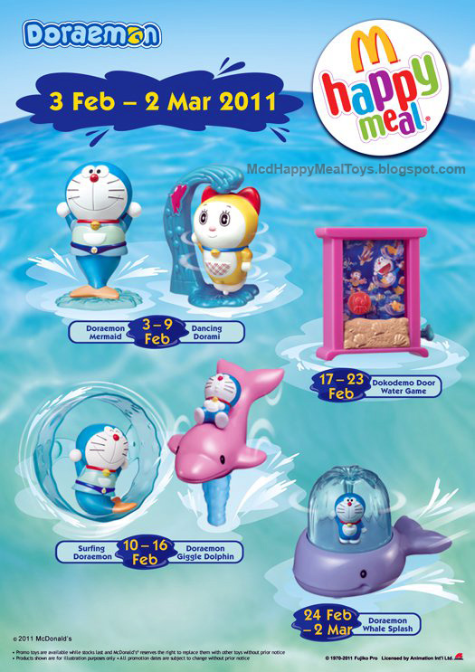 Mcd Happy Meal Doraemon Toys Happy Meal Toys