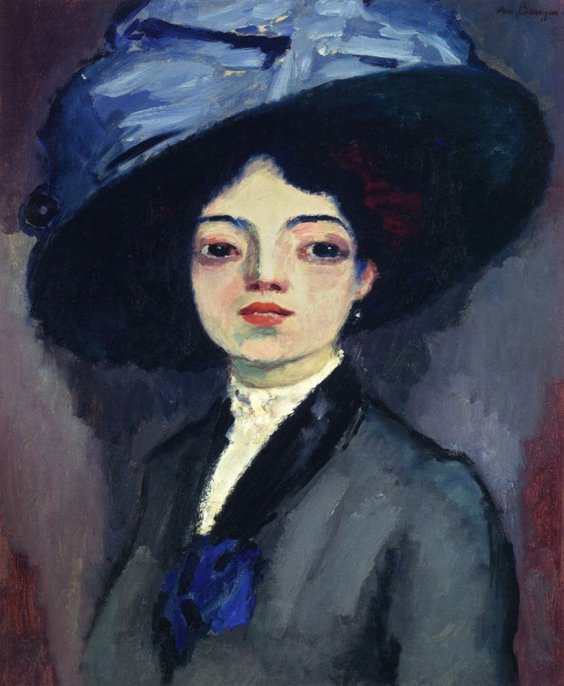 Kees van Dongen (1877-1968) , Visage de femme de profil