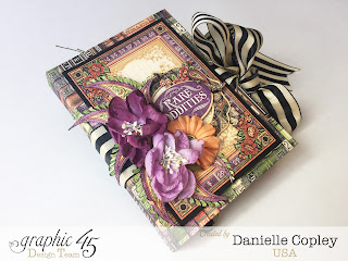Simple Halloween Brag book Mini Album for Graphic 45 with a tutorial