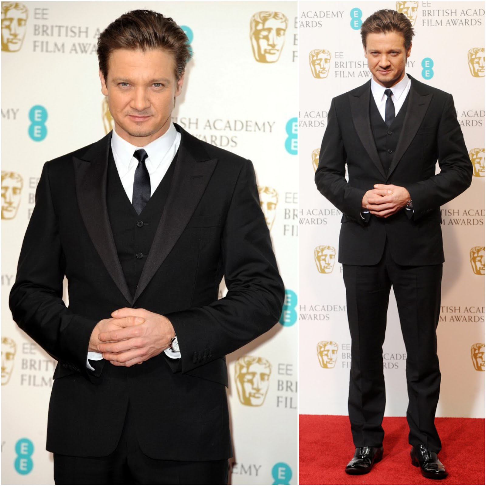 00O00 Menswear Blog Jeremy Renner in Alfred Dunhill - 66th BAFTA Awards, London
