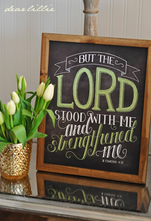 http://www.dearlillie.com/product/the-lord-stood-with-me-11x14-chalkboard-print-with-green