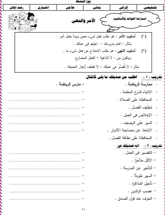 شيتات المجموعة المدرسية لمادة اللغة العربية للصف الثالث الابتدائى على هيئة صور للمشاهدة والتحميل The%2Bsecond%2Bunit%2B3%2Bprime_009