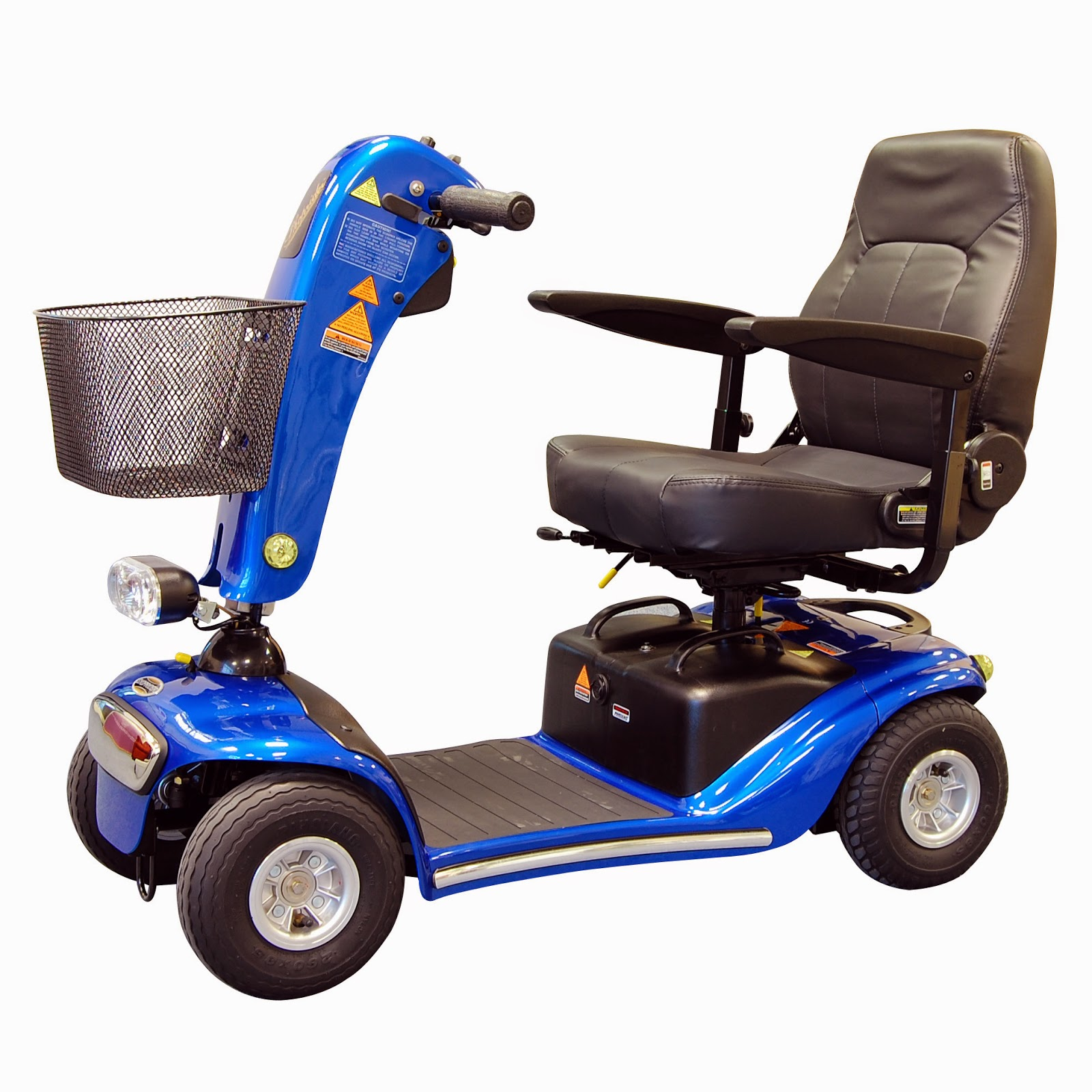 mobility scooter blue 4-wheels