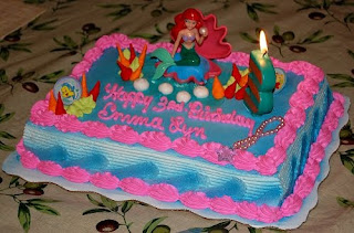 Ariel Mermaid Birthday Cake Ideas