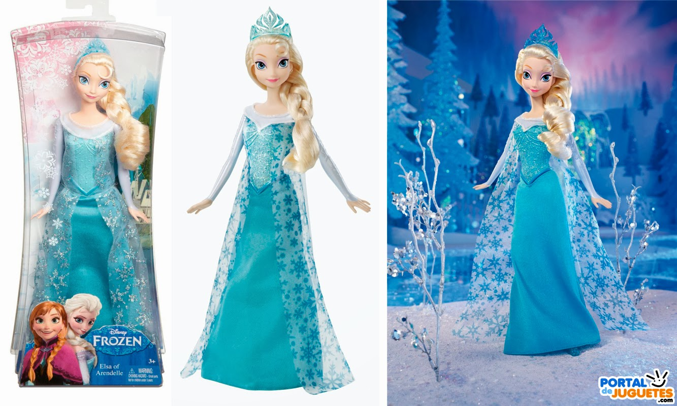 muñeca elsa purpurina frozen mattel caja