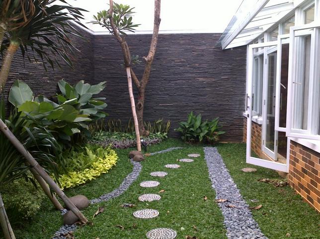 foto desain taman di belakang rumah terbaru 2016