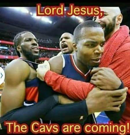 Lord Jesus, The Cavs are coming! #cavs #nba #nba2015 #PaulMillsap