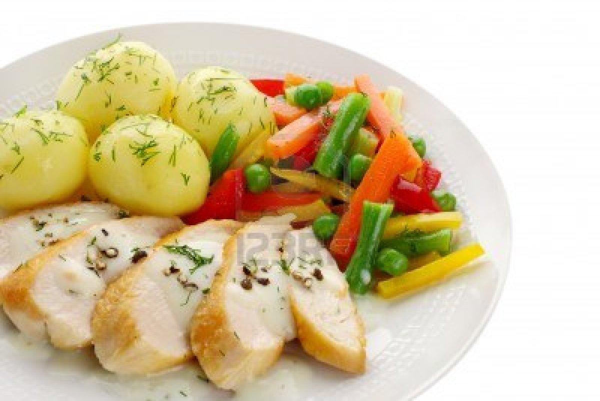 Pechuga de pollo a la plancha con salteado de verduras for Rectas de cocina faciles