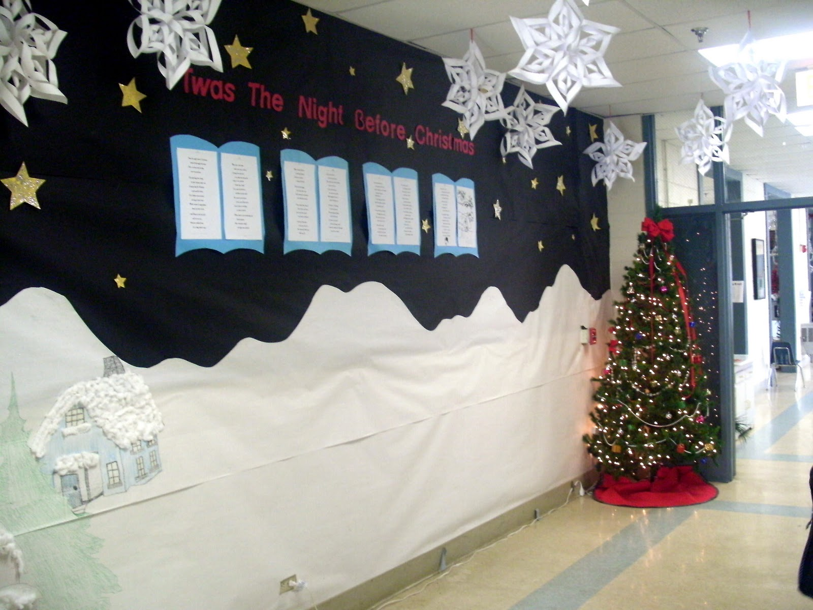 3d bulletin boards on pinterest 3d bulletin boards red How to decorate your hallway for christmas