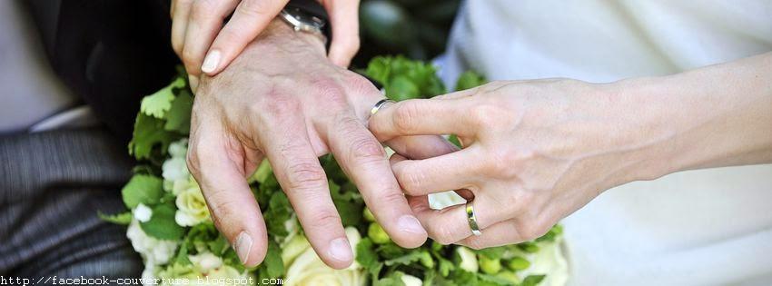 Une belle couverture facebook pour évenement de mariage
