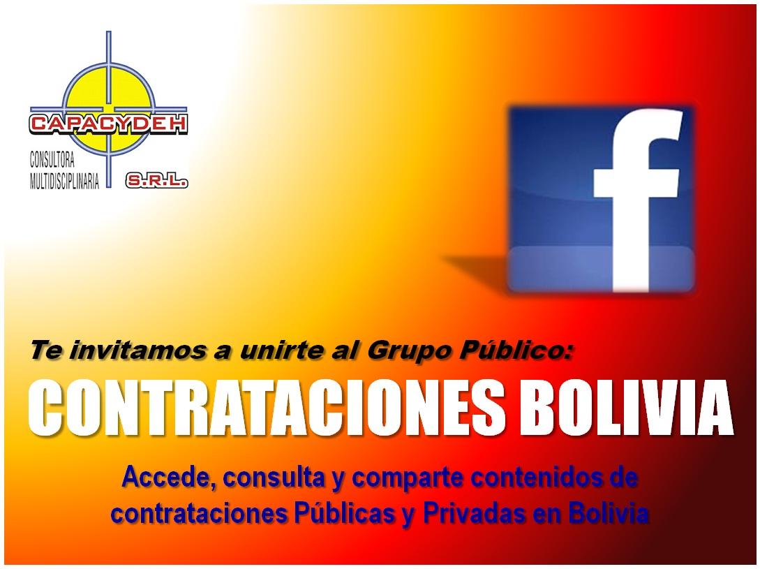 Unete al grupo FB CONTRATACIONES BOLIVIA