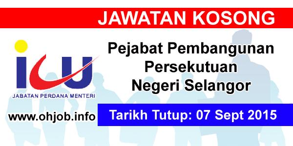 Jawatan Kerja Kosong Pejabat Pembangunan Persekutuan Negeri Selangor logo www.ohjob.info september 2015