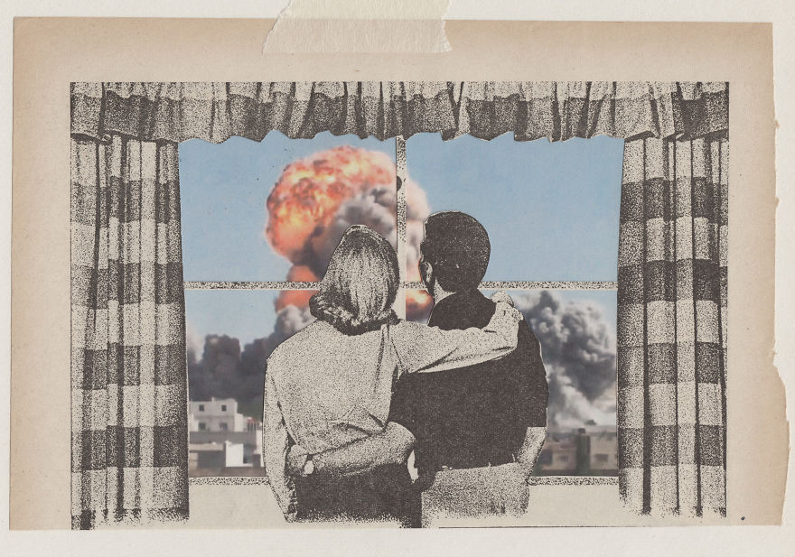 35 Cynical Collages That Tell Uncomfortable Truths About The World - Home Sweet Home III
