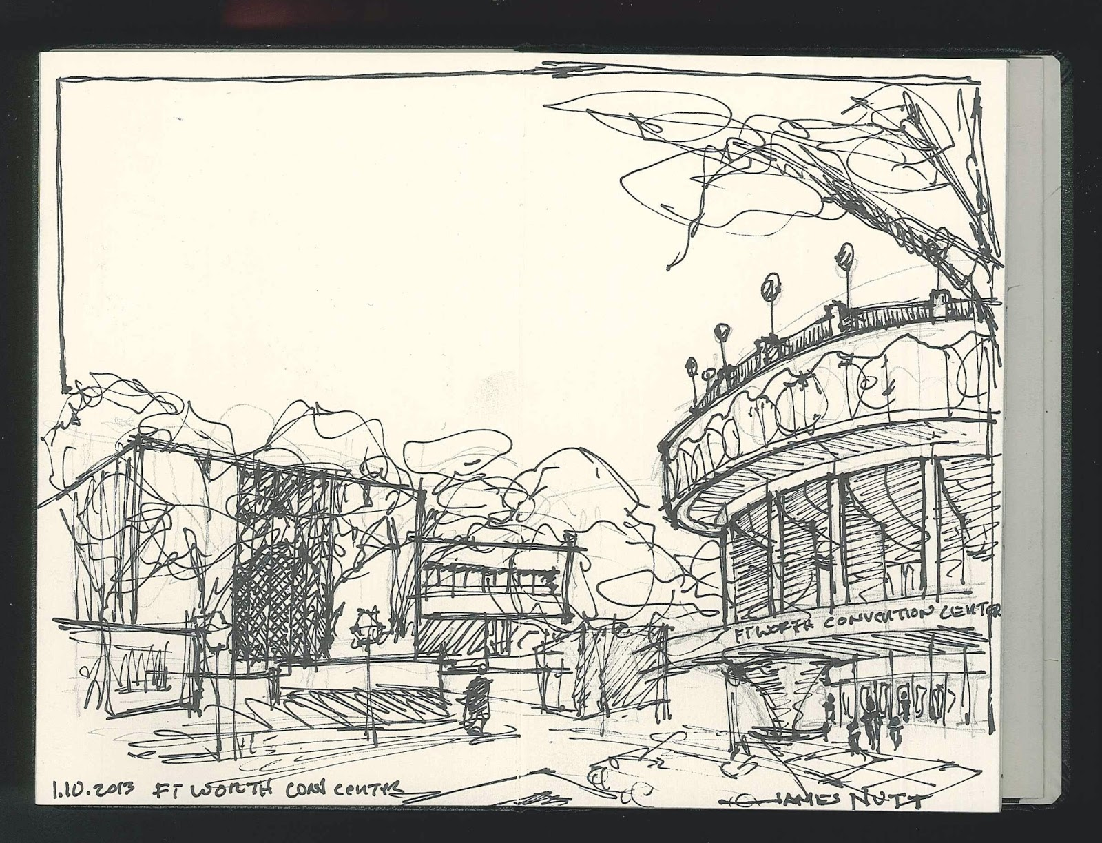 The Convention Center Is Basically A Big Concrete Spaceship With Beautiful Park Next Door This Pretty Rare Sketching Opportunity And I Enjoyed It