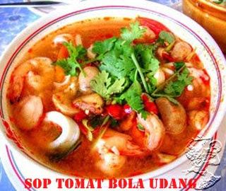 Resep Masakan Sop Tomat Bola Udang