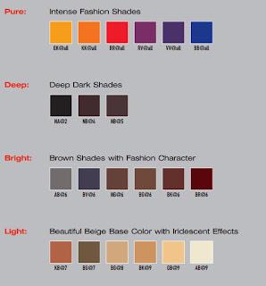 elumen shades tonos colores