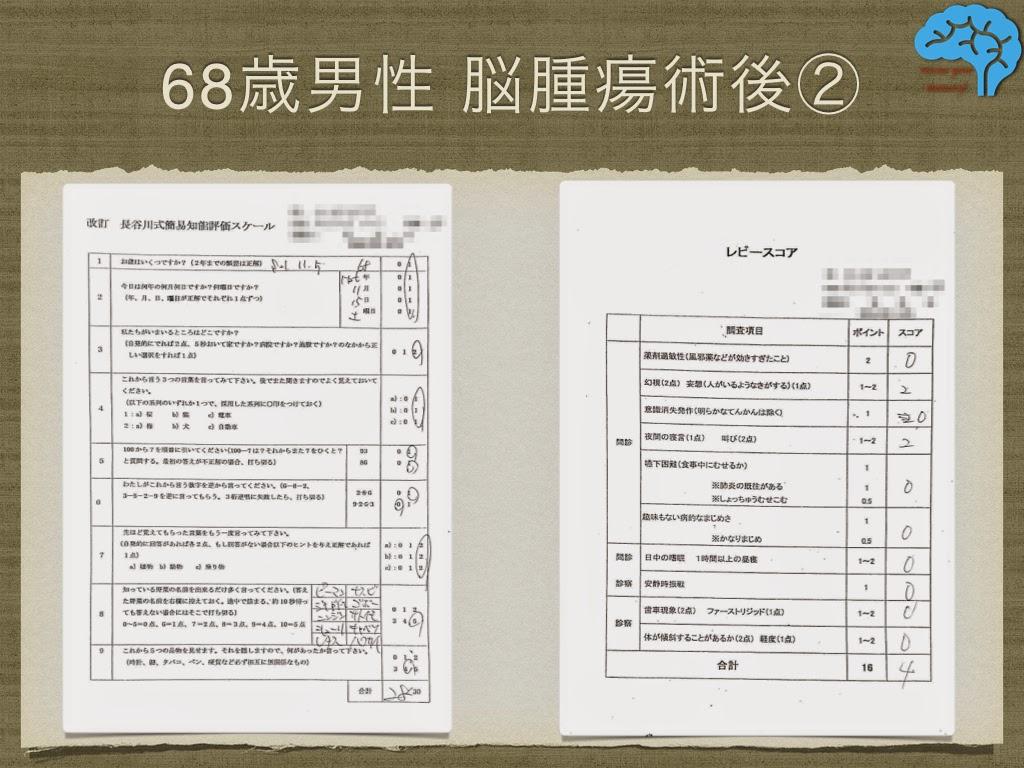 長谷川式テストは大丈夫だが、レビースコアは4点