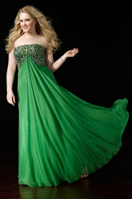 Vestidos de fiesta color verde para gorditas