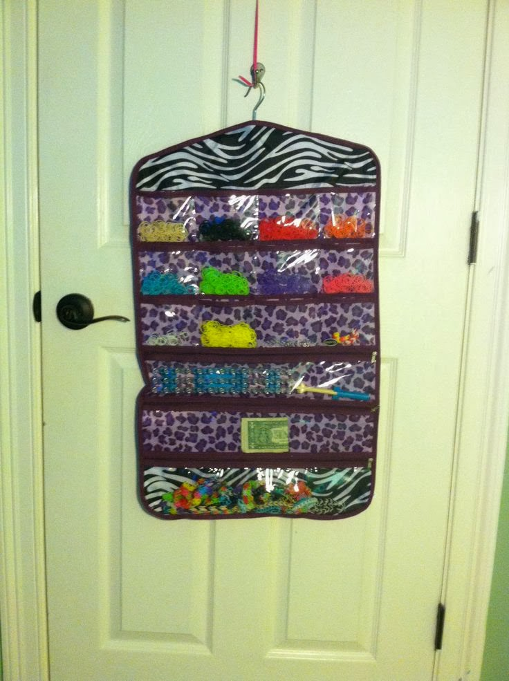 Jewelry Organizer for organizing Rainbow Loom Bands :: OrganizingMadeFun.com