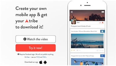How to create a personal application within 30 seconds, Triber