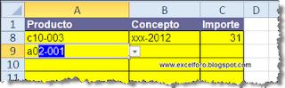 Simulando un Texto predictivo en una celda de Excel.