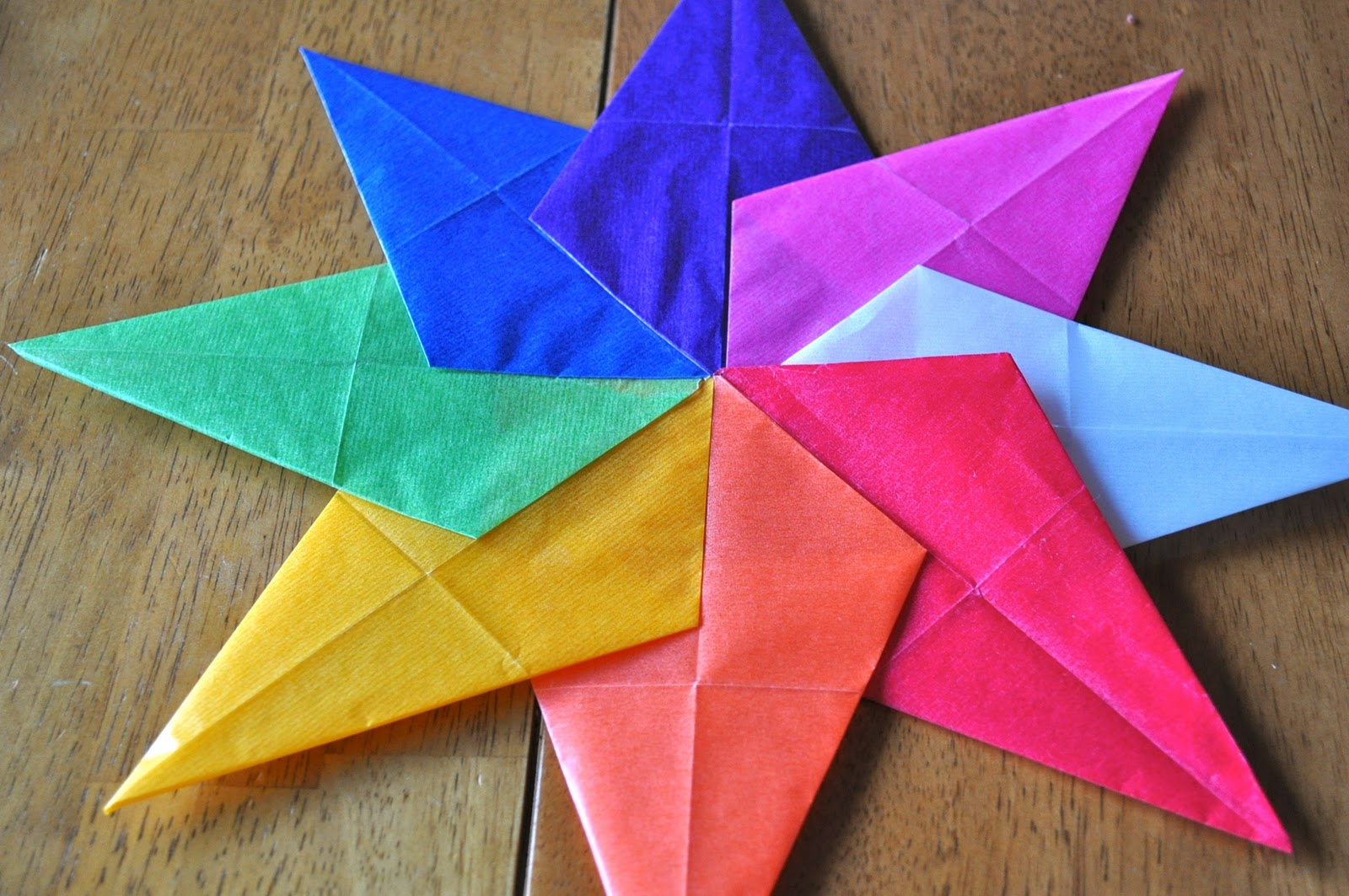 How to make a paper window star little house big alaska for How to make a big paper star
