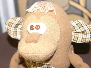 текстильная обезьянка