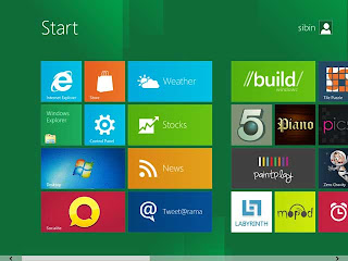 Windows 8 Dual Desktop-Home View