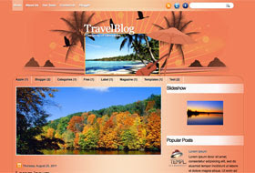 TravelBlog Blogger Template