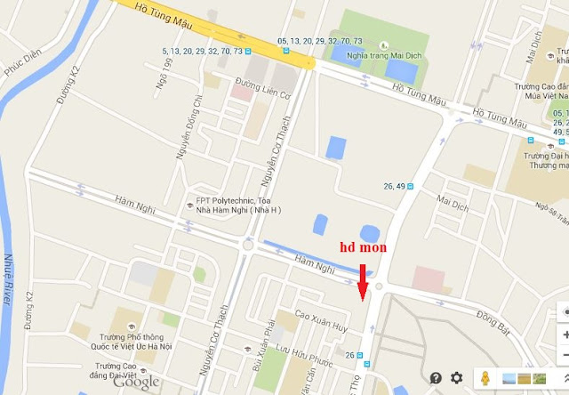 vị trí chung cư Mon City mỹ đình