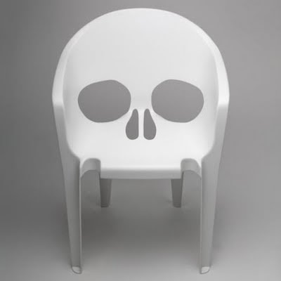 Chair or Skull Optical Illusion