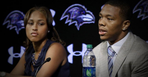 Ray Rice, Running Back with the Baltimore Ravens, and his wife, Janay Rice