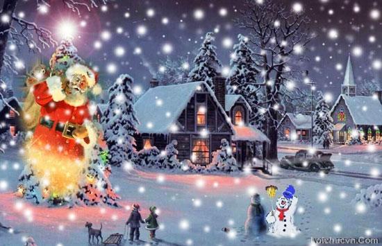 Hình ảnh đêm giáng sinh tuyệt đẹp