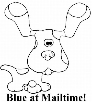 Blues Clues Coloring Pages on Coloring Pages Online  Blues Clues Coloring Pages