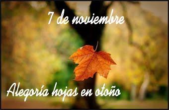 Las hojas, no se caen, se desprenden...