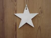 décorations-de-Noël-étoile-blanc-bois-découpé