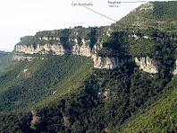 Els Cingles de Bertí des de l'inici del Grau de la Trona