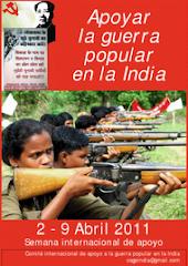 APOYAR LA GUERRA POPULAR EN LA INDIA