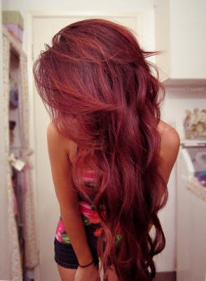 Cheveux Couleur Cérise Rouge
