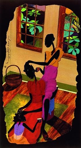 2 south american girls x 1 afro guy - 2 1