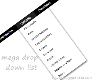 stylish+menu+bar+with+mega+drop+down+list