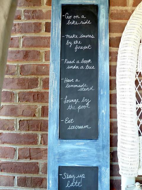 diy chalkboard shutters