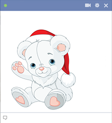 White Santa Teddy Emoticon
