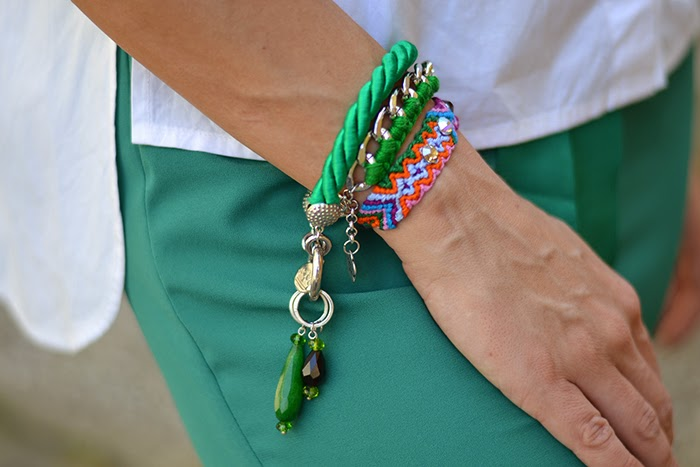 bracciali verdi colorati